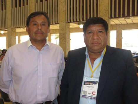 Ysrael Acuña y Demóstenes Terrones, de APTC de Perú