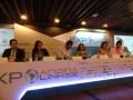Gabriel Levy, Angela Mora y Ernesto Orozco de ANTV, Angela Guerra de Telefónica, María Iregui de DirecTV y Iván Mansilla de la DNP