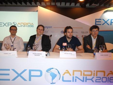 """Pedro Taborda (Level 3), Gabriel Levy (Andina Link), Carlos Lucas (NexStreaming) y Fabio Baudo (Handan) participaron de la conferencia """"Nuevos servici"""