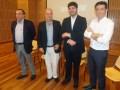 Horacio Levin, director de la TV Pública de Argentina; Hernán Lombardi, ministro de medios y contenidos públicos de la Nación; Raphael Corrêa Netto, d
