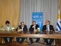 Canal U Arg Iván Solarich, Robert Rocha, Pablo Scotellaro y el Embajador Héctor Lescano