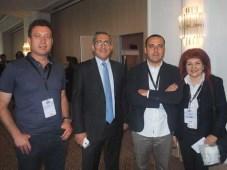 TRT durante el TRT TV Wonderland: Erol Vyanik, productor de TRT, Mehmet Buyra Nahn, jefe del departamento de TV de TRT en Anatolia, Furkan Gundogan, g