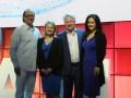 David Walsh, presidente & CEO de Genband, junto a Katrina Troughton, VP Smarter Workforce Solutions de IBM, Patrick Joggerst, y Bita Milanian, también de Genband