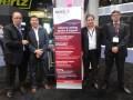 Eduardo Aguilar, de GatesAir, Efrain Maldonado, de Malcomsat (México), Diego Gilles y Sergio Lamounier, de GatesAir, en la última NAB