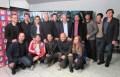 Sebastián Ortega y Hernán Lombard, titular del Sistema Federal de Medios y Contenidos Públicos (Sfmcp) (centro) con Pablo Culell y Gonzalo Armendares,