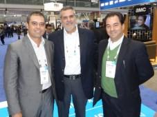 Emerson Sampaio, Enrique Yamuni y Raymundo Fernández, de Megacable