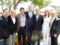 El Screening de CBS: Armando Nuñez, Jr., presidente de distribución global del estudio (centro) junto a Jorge Arregui, CEO de la casa de doblaje Dubbi