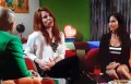 Agustina Kamper y Adabel Guerrero en el estreno de la quinta temporada de Muy Muscari