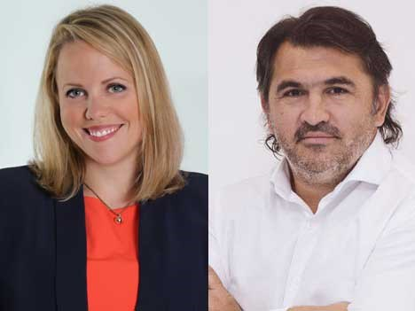 Anna Gordon, de BBC Worldwide Latin America/US Hispanic, y Facundo de la Iglesia, CEO de Qubit.tv