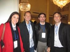Cablevision: Laura Lozes, Eduardo Stigol, Patricio Marín de Inter y Gonzalo Hita