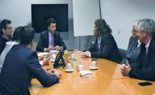 Rodrigo de Loredo, de Arsat se reunió con Walter Burzaco y Daniel Celentano, de ATVC, Franco Cecchini y Luis Quinelli, de CATIP, y Ariel Fernández Alv