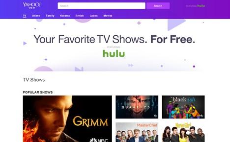 Yahoo y Hulu lanzan servicio de streaming gratuito