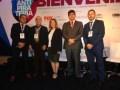 Francisco Escutia, de Laapip; Antonio Salles, de ABTA; y Marta Ochoa, de Alianza contra la Piratería de TV Paga; Ygor Valerio, de MPA; y Sebastián Lat
