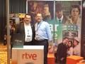 Andina Link CentAmerica 16 D3 Gerardo Chevarría, de Telcable, y Víctor Reyero, director para México, Centroamérica y el Caribe, de RTVE