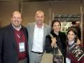 Jornadas 16 D1 Gustavo López, de AMC, con Sebastian, Silvina y Nicolina Pierri, de Telecentro