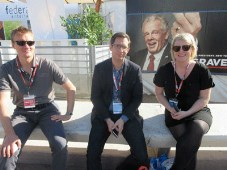 Online titans in Cannes: Christian Schoepke, content acquisition, Gerrit Roth, senior content acquisition manager, and Amy Paterson, film acquisitions