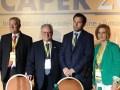 Caper 2016 D1 Osvaldo Rodi, Ricardo Solari, José García Hamilton y Norma Trinchitella en la inauguración