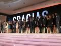 El screening de Telemundo: César Conde, Chairman, NBCUniversal International Group, Luis Silberwasser, presidente de Telemundo Network, y Marcos Santa