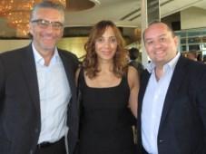 Fox Networks Group: Edgar Spielmann, COO, Mariana Pérez, SVP de contenidos, y Carlos Martínez, presidente
