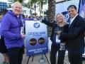 Michael Tribonet, CEO de Yip TV, Kim Reed, socia fundadora, y Raúl Acosta, CEO, ambos de Global Media Federation