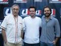 Sebastián Ortega, director creativo y productor general de Underground (centro) con los actores Luis Brandoni y Peter Lanzani