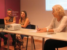 Gonzalo Speranza y Rosanna Manfredi, ambos de CAMIAT (bordes) y Camila Rocha