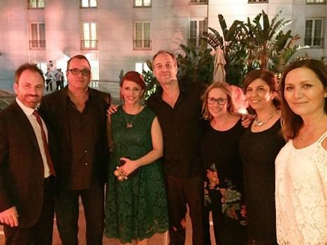 Heidi en lanzamiento especial en Buenos Aires: Matteo Corradi, Mondo TV; Pierluigi Gazzolo, VIMN; Marcela Citterio y Javier Francia, Alianza Produccio