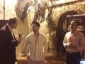 Ray Allieri, Yeshuah Castillo y Jesús Pinango en el cóctel de Olympusat en Cartagena