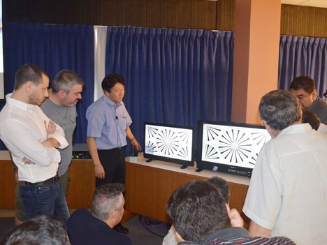 Presentación de la nueva cámara HDC-4300 de Sony, en las instalaciones de Viditec