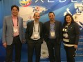 Los ejecutivos de Aldea, Diego López, director de ventas; Lionel Bentolila, CEO; Juan Carlos Martínez, manager regional de ventas, y Tibisay Osorio, manager de ventas internas