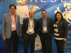 Los ejecutivos de Aldea, Diego López, director de ventas; Lionel Bentolila, CEO; Juan Carlos Martínez, manager regional de ventas, y Tibisay Osorio, m
