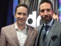 Benjamín Salinas Salas, CEO de TV Azteca, y Enrique Dominguez Narváez, director general de a+