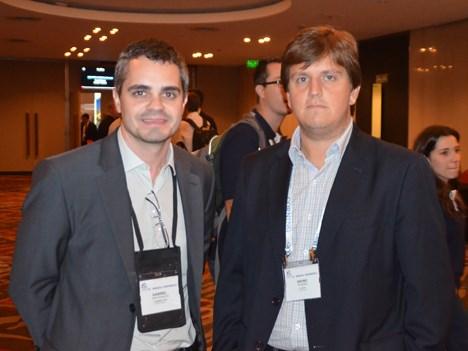 Gabriel Pascholato, de CommScope, y Bruno Resende, de Algar