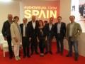 Geraldine Gonard, directora de Conecta Fiction, junto a ejecutivos de la organización ICEX y Agadic, RTVE y Movistar, e INCAA (Argentina)