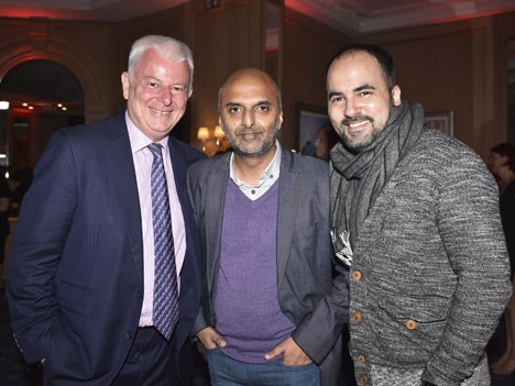 More attendees at the Gala Dinner: Marcel Fenez, president, Fenez Media, Sohail Anjum, content specialist, ICFLIX, and Ahmer Khan, broadcast consultan