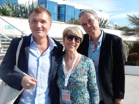 Buyers from ProSiebenSat.1 (Germany): Ruediger Boess, EVP, and Claudia Ruehel, senior manager, linear TV, and Thomas Lasarzik, SVP, Goup programming a