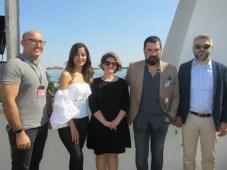 Buket Inal y Ozlem Conker, protagonistas de The Last Emperor junto a los productores Sardar Ogretici y Yusuf Esenkal, y Ayzegul Tuzun, VP, Mistco