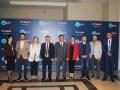 Senol Goka, director general de TRT, junto al equipo organizador de la segunda edición de los TRT Screening Days en Cesme, Izmir