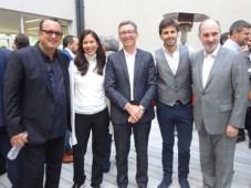 Pierluigi Gazzolo, presidente de VIMN Américas; Rita Herring, SVP de distribución; Carlos Moltini, CEO de Cablevisión; Darío Turovelzky, director de c