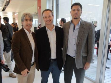 Juan González del Solar, gerente de programación & marketing deportivo de DirecTV Argentina; Ariel Katz, de Telefe; y Marcelo Juárez, gerente de progr