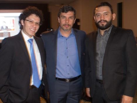 Marco Rabadán, de Excelencia; Luis Fernando López y Jairo Mora, de Telestream