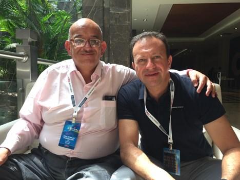 Jaime Iturri, director nacional de contenidos, y Luis Nemtala Crespo, director comercial