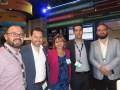 Alfonso Vázquez, Héctor Veytia, de Teletec; Zuney Rojas, de Dell/EMC; y Aaron López, de VSN, en el stand de la marca