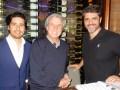 Christian Gabela, VP and GM de Story House, con Patricio Wills y Carlos Bardasano, Jr., ambos de W Studios, todos del grupo Univisión, en los LA Screenings
