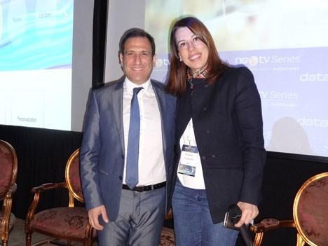 NexTV 17 D1 Ariel Barlaro con Fernanda Fronterotta Bernasconi, de IBM