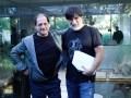 El protagonista Julio Chávez con el director Daniel Barone en el inicio de las grabaciones de El Maestro