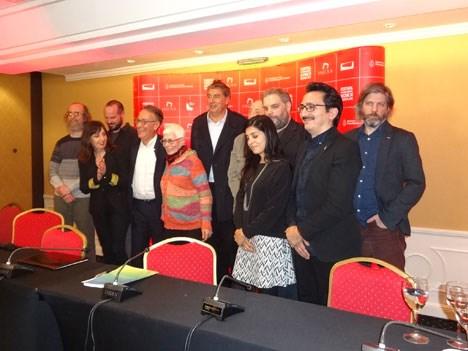 Mesa de presentación del Festival de Cine de Mar del Plata 2017