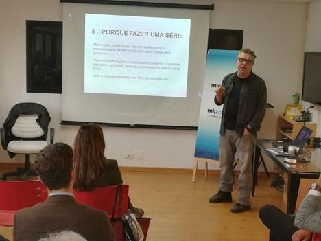 Paulo Nascimento, de Accorde Filmes, compartió su experiencia en el MIPChina durante el Brazilian Content Exchange. Foto: BRAVI