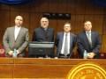 Carmelo Ruggilo, Fernando Lugo, Pablo Scotellaro e Ignacio Viveros