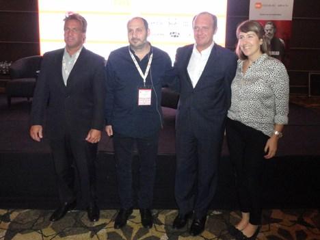 Martín Vilademonte, Juan Massuh, Sergio Veiga y Julieta Paoluchi de Fox